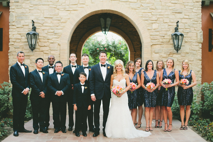 The bridal party — amazing navy style!