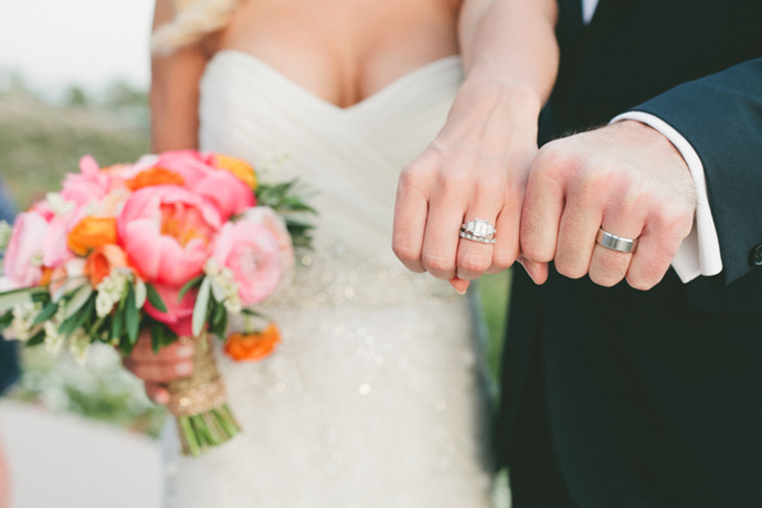 Fun idea for a photo of the bride and groom's rings!