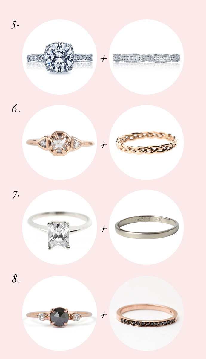 Photo by    5.  engagement ring  +  band  //  6.  engagement ring  +  band  //  7.  engagement ring  +  band  //  8.  engagement ring  +  band