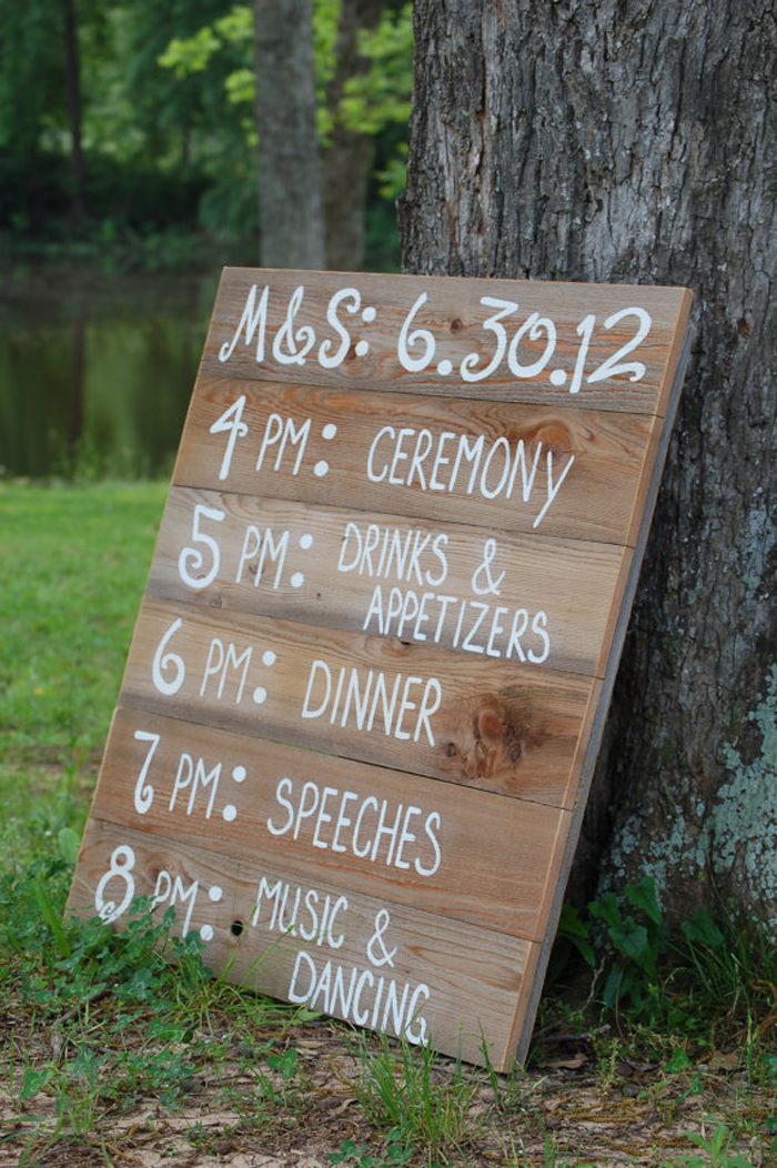 Photo by  Wedding Signs With Love  via Etsy