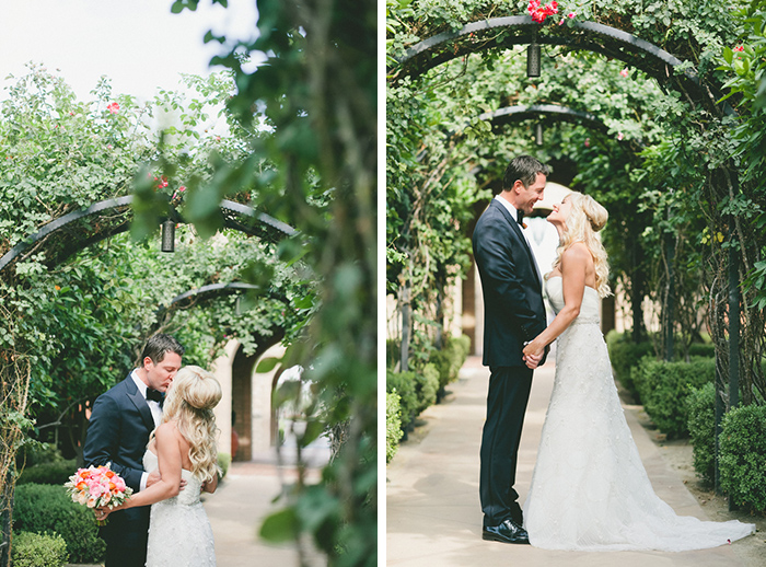 Lovely first look photos of the bride and groom