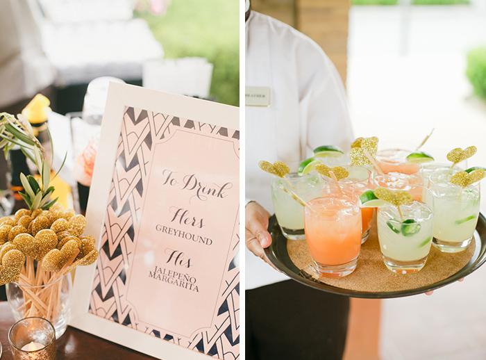 Wedding signature cocktail idea
