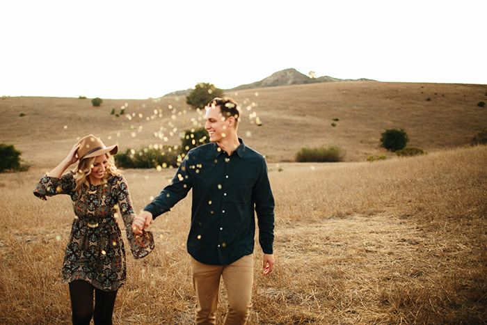 Confetti for a photo shoot — always a good idea