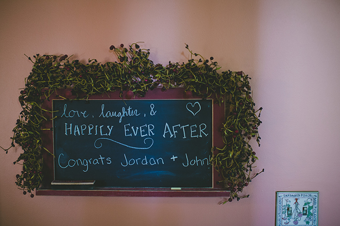 Sweet wedding reception sign