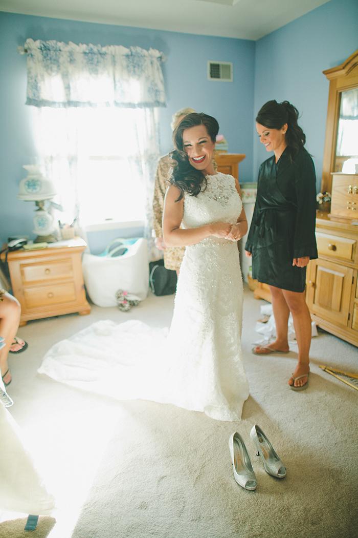 Stunning romantic winter bride look