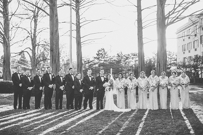 A winter bridal party