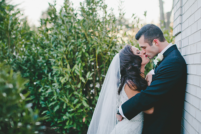 Gorgeous classic bride and groom