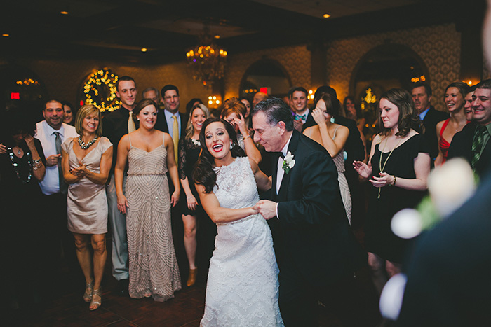 Beautiful father and daughter dance