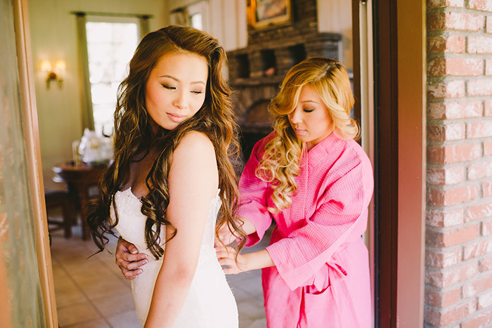 Beautiful getting ready photo of the bride