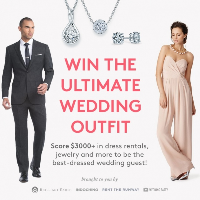 Ultimate summer wedding outfit sweepstakes: Get $3000+ from Rent The Runway, Indochino, Brilliant Earth and Wedding Party!