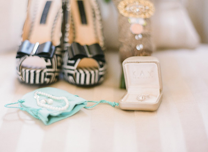 Pretty stripped wedding details