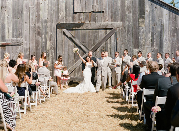 rustic country wedding ceremony
