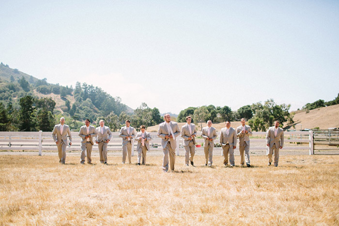 Country groomsmen wedding photo