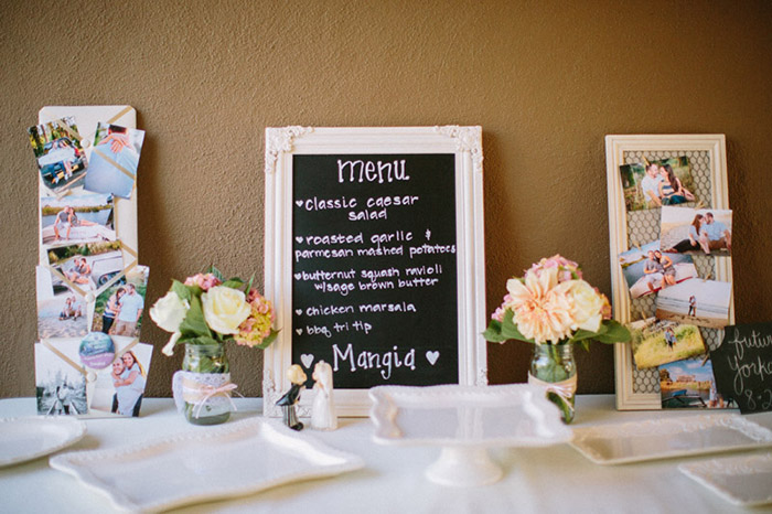 rustic pink and white country wedding decor