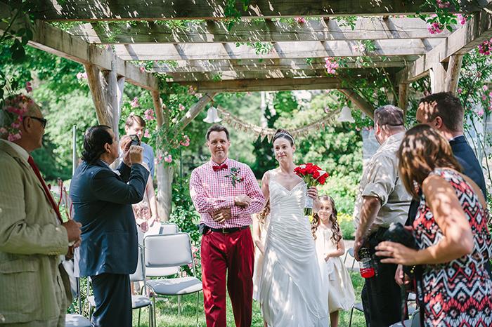 Rustic outdoor wedding ceremony