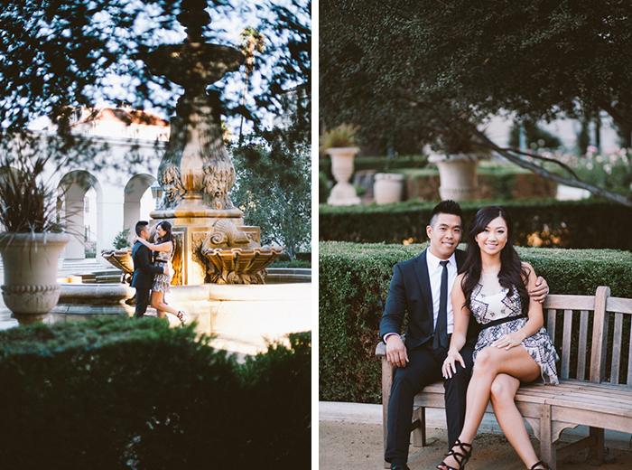 beautiful city hall engagement photo