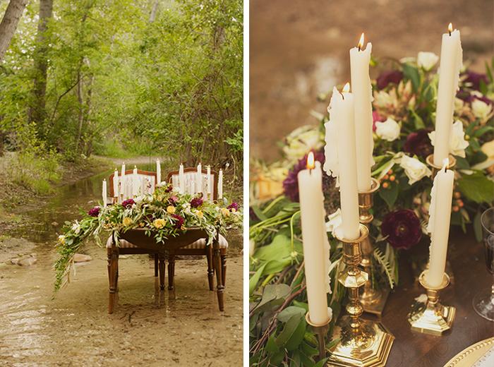 Stunning fall boho sweetheart table