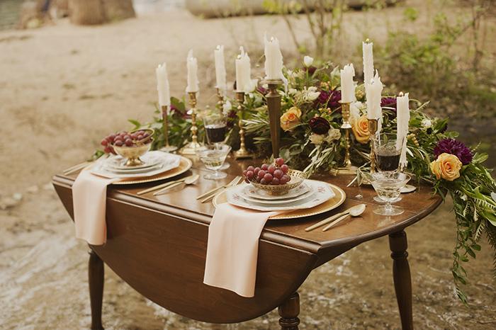 Beautiful boho wedding styled shoot