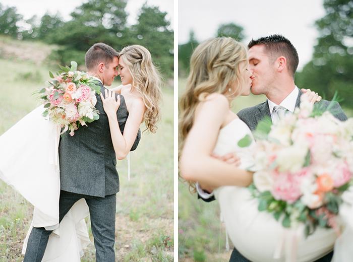 romantic blush pink mountain wedding 1