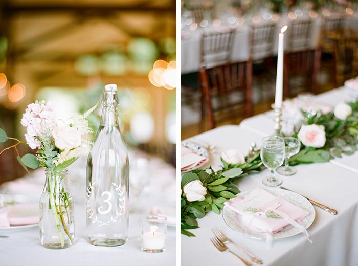 romantic blush pink mountain wedding 2