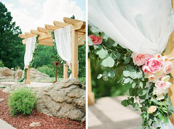 romantic blush pink mountain wedding 6