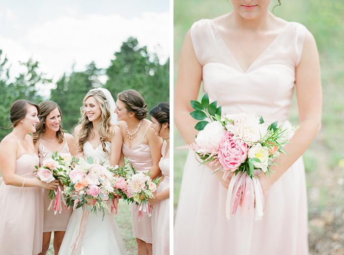 romantic blush pink mountain wedding 7