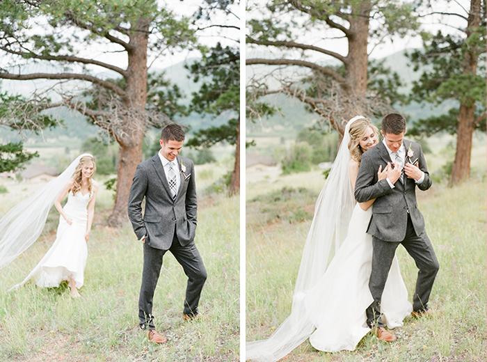 romantic blush pink mountain wedding 9