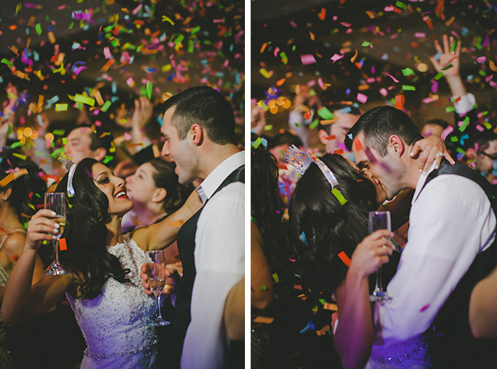 New Year's eve photo of a bride and groom. Love this!