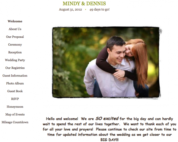 Creative And Fun Wedding Websites To Help You Capture And Plan Your Picture Perfect Wedding Wedpics Blog