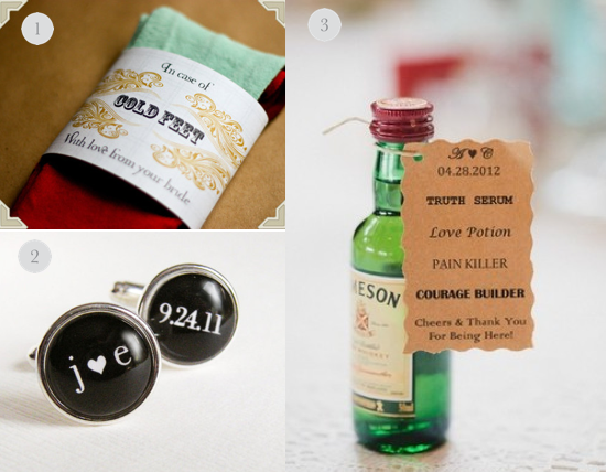 Gifts for the groom, love potion, cufflinks, cold feet socks, etsy gifts for groom, wedding party blog