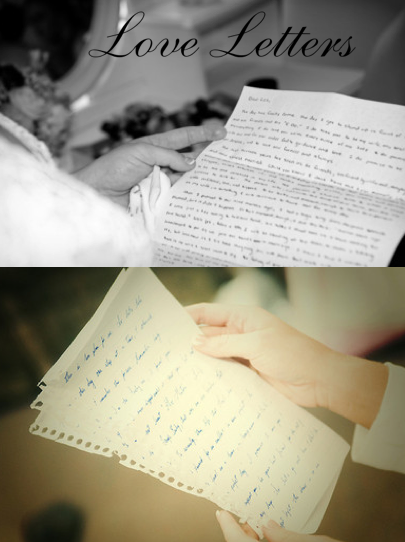 love letters, writing letters to bride and groom, wedding day love letters, wedding party blog