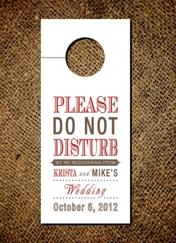 wedding door hanger, wedding do not disturb, custom wedding door hanger, wedding morning after door hanger, wedding morning after souvenir, wedding hotel door hanger, cool wedding door hanger, wedding door hanger idea, wedding door hanger inspiration, diy wedding door hanger, wedding do not disturb sign, unique wedding ideas, unique wedding guest ideas, how to entertain wedding guests, unique ideas for wedding guests, how to entertain wedding guests, how to be a good wedding guest, unique wedding guest entertainment, wedding guest entertainment, how to make sure wedding guests have a good time, entertaining wedding guests, wedding guest inspiration, wedding guest ideas, wedding guest games, wedding guest fun ideas