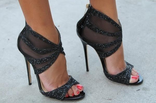 black wedding pumps