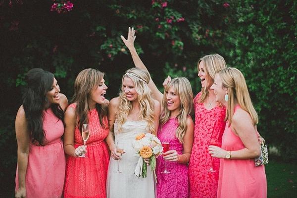bridesmaids dresses, bridesmaids dress colors, ombre bridesmaids dress, bridesmaids dress swatches, bridesmaids dress colors, bridesmaids dress color palette, cool bridesmaids dresses, mismatched bridesmaids dresses, mix and match bridesmaids dresses, mix and match bridesmaids colors, blue bridesmaids dresses, turquoise bridesmaids dresses, 10 ways to be a cool bride, how to be a cool bride, being a cool bride, not being a bridezilla, how to be a laid back bride, how to be a good bridesmaid, what bridesmaids want, how to treat your bridesmaids, pink bridesmaids dresses, pink mismatched bridesmaids dresses, pink bridesmaids inspiration
