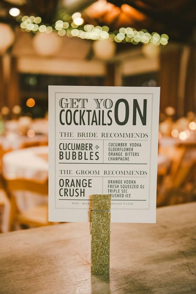 wedding cocktail sign