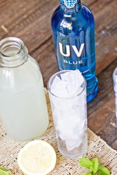 blue raspberry cocktail