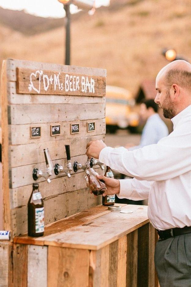 wedding beer bar