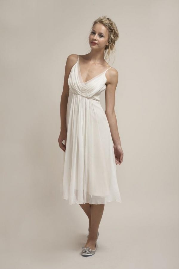 Gorgeous tea length Saja Wedding dress for under $500!