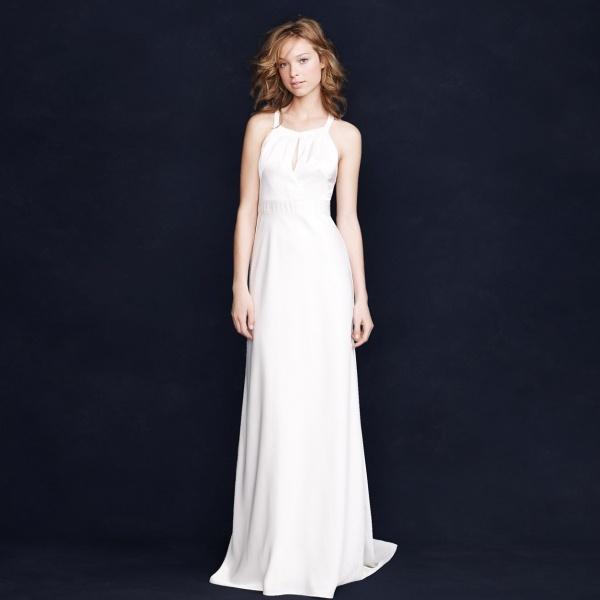 Glamorous understated Jcrew wedding dress under $500!