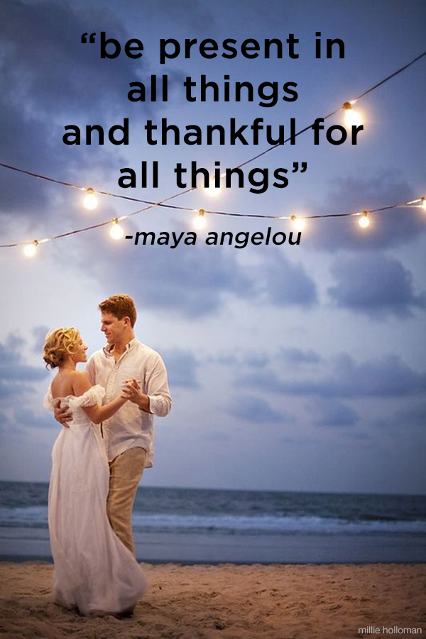 """Be present in all things and thankful for all things"" Wonderful quote for Thanksgiving!"