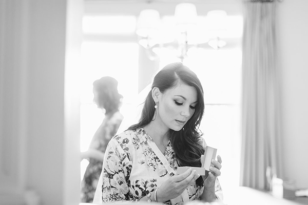 Gorgeous glam & whimsical museum wedding by Lauren Scotti Photographer. Beautiful photo of the bride getting ready.