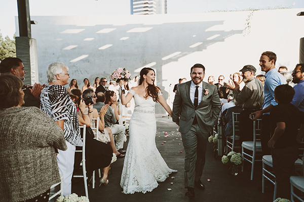 Gorgeous modern whimsical wedding ceremony