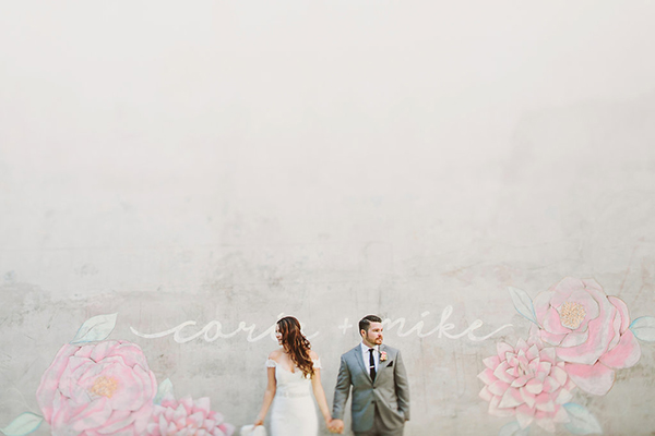Gorgeous wedding photos of the bride and groom at their glam, whimsical museum wedding