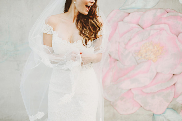 adorable and glam photo of the bride