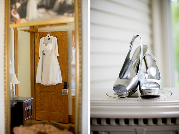 First Comes Love Photo-- Wedding Dress and Shoes!