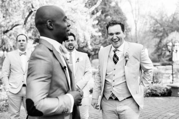 Happy groom on his wedding day!