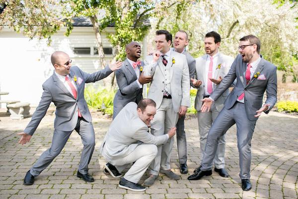 Goofy groom and his groomsmen on his wedding day!