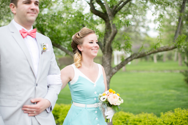Lovely 50's vintage bridesmaid and groomsmen