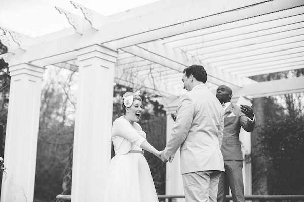 Adorable and fun bride and groom getting married!