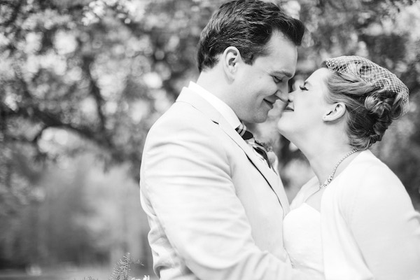 Adorable bride and groom on their wedding day!